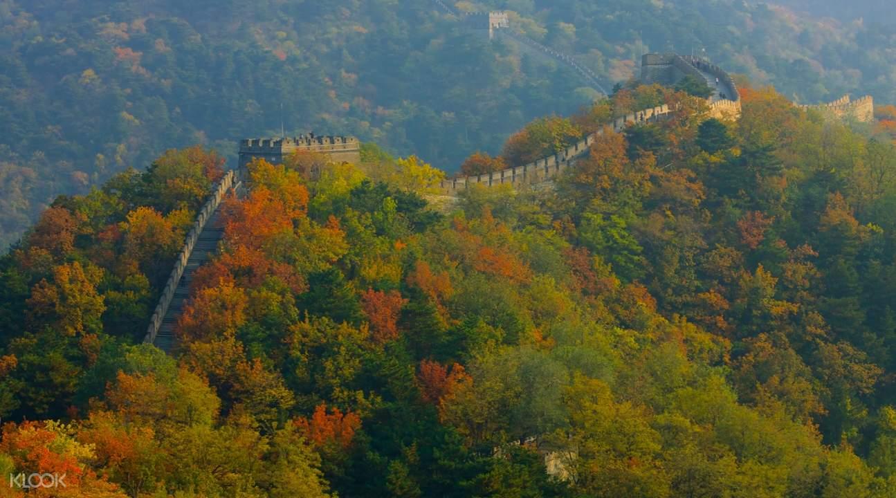 mutianyu great wall in autumn